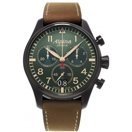 Alpina Startimer Pilot Big Date Chronograph Military AL-372GR4FBS6